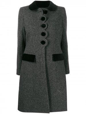 Пальто с воротником Питер Пэн Marc Jacobs. Цвет: серый