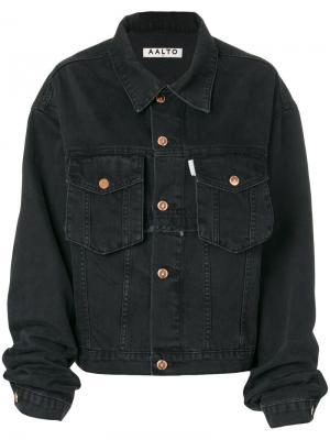 Свободная джинсовая куртка Aalto. Цвет: чёрный