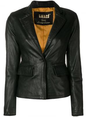 Кожаная куртка в стилистике блейзера S.W.O.R.D 6.6.44. Цвет: черный