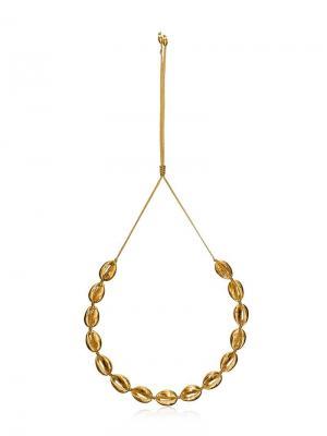 Ожерелье Concha Puka Tohum. Цвет: золотистый