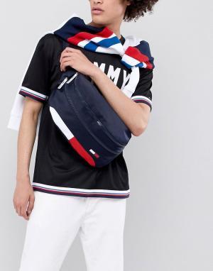 Темно-синяя сумка-кошелек на пояс с флагом -Темно-синий Tommy Jeans