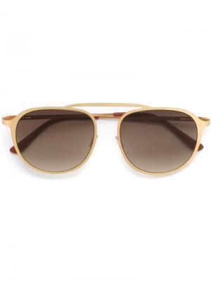 Солнцезащитные очки Italia Independent. Цвет: металлический