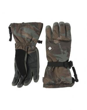 Перчатки COLUMBIA. Цвет: зеленый-милитари