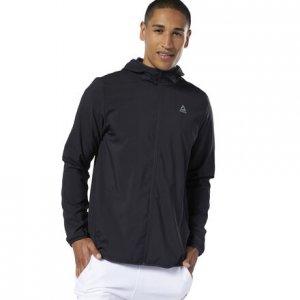 Спортивная куртка Training Essentials Woven Reebok. Цвет: black