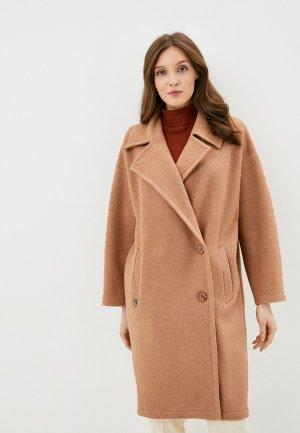 Пальто Steinberg. Цвет: коричневый