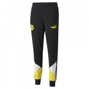 Штаны BVB FtblCulture Mens Track Football Pants PUMA. Цвет: черный