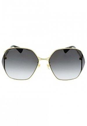Очки GUCCI sunglasses. Цвет: золотой