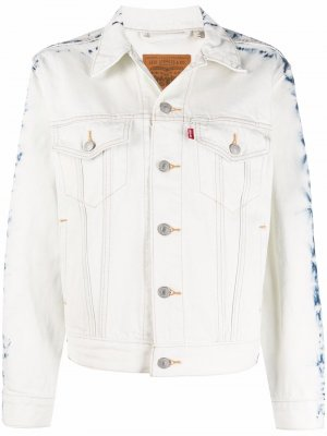 Levis джинсовая куртка с принтом тай-дай Levi's. Цвет: белый