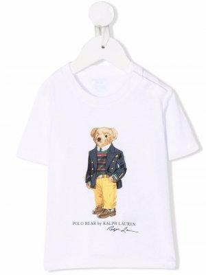 Baby teddy bear t-shirt Ralph Lauren Kids. Цвет: белый