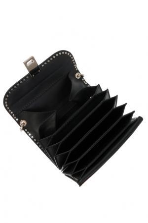 Черная кожаная сумка Garavani Rockstud Valentino. Цвет: черный