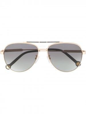 150 aviator-frame sunglasses Ch Carolina Herrera. Цвет: золотистый