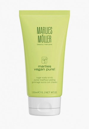 Скраб для кожи головы Marlies Moller Сахарный, VEGAN PURE, 150 мл. Цвет: белый
