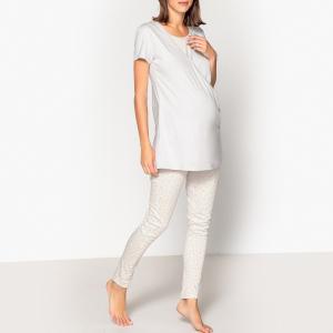 Пижама для периода беременности и грудного вскармливания LA REDOUTE MATERNITE. Цвет: леопардовый рисунок