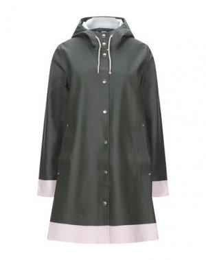 Легкое пальто STUTTERHEIM. Цвет: зеленый-милитари
