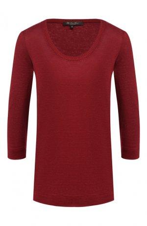 Льняной пуловер Loro Piana. Цвет: бордовый