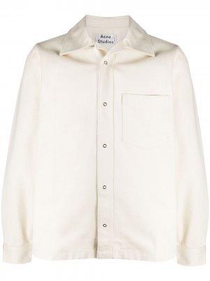 Куртка-рубашка узкого кроя Acne Studios. Цвет: нейтральные цвета