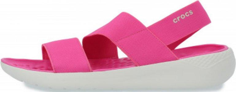 Сандалии женские LiteRide Stretch, размер 39 Crocs. Цвет: розовый
