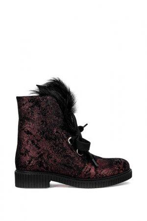 Ботинки Just Couture. Цвет: бордовый