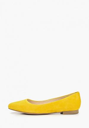 Балетки Caprice. Цвет: желтый