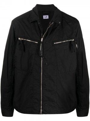 Легкая куртка на молнии C.P. Company. Цвет: черный