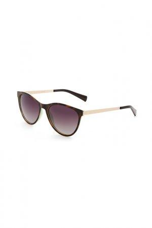 Очки солнцезащитные Enni Marco. Цвет: черный, светло-коричневый