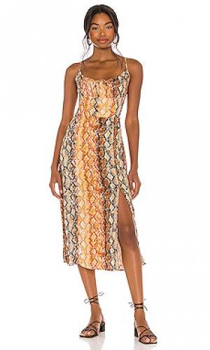Платье portola L*SPACE. Цвет: orange, brown