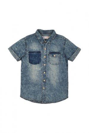 Рубашка Minoti. Цвет: джинсовый
