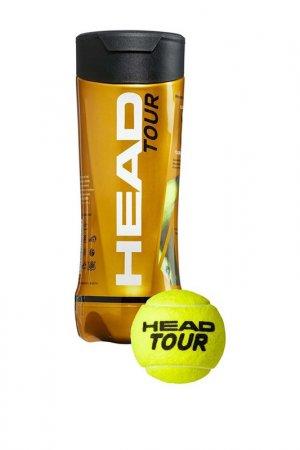 Мячи теннисные 3B Tour HEAD. Цвет: желтый