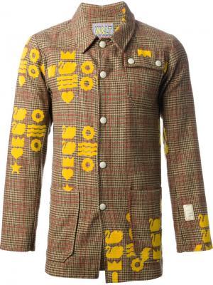 Пиджак в шотландку с жёлтым рисунком Walter Van Beirendonck Vintage. Цвет: нейтральные цвета
