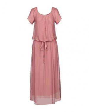 Длинное платье B.YU. Цвет: пастельно-розовый