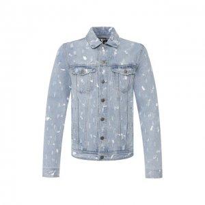 Джинсовая куртка DOMREBEL. Цвет: синий