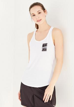 Майка спортивная Nike W NKCT DRY TEE DBL. Цвет: белый