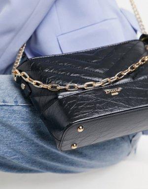 Черная стеганая сумка через плечо с цепочкой Darleen-Черный цвет Dune