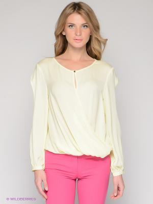 Блузка BOVONA. Цвет: светло-желтый