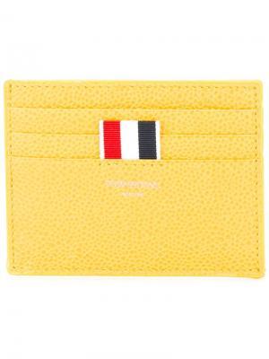 Визитница с деталью в полоску Thom Browne. Цвет: жёлтый и оранжевый