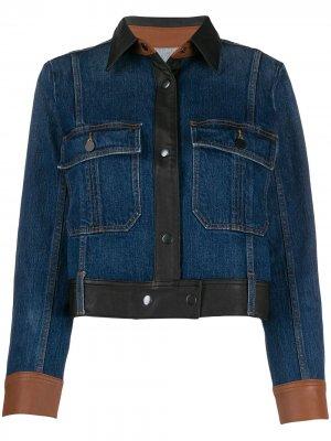 Куртка со вставками FRAME. Цвет: синий