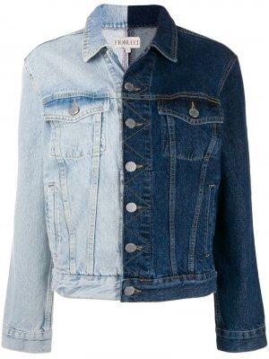 Двухцветная джинсовая куртка Fiorucci. Цвет: синий
