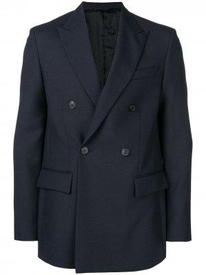 Костюмный пиджак Golden Goose. Цвет: синий