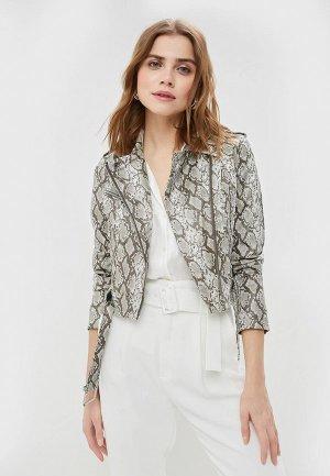 Куртка кожаная Befree. Цвет: серый