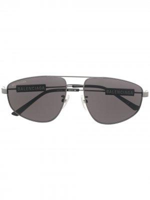 Солнцезащитные очки-авиаторы Balenciaga Eyewear. Цвет: черный