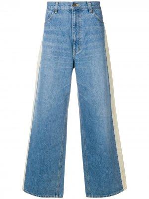 Широкие джинсовые брюки Facetasm. Цвет: синий