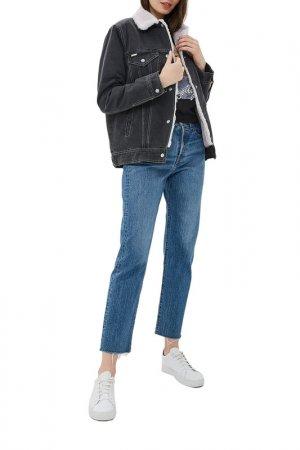 Куртка джинсовая Dasti. Цвет: черный