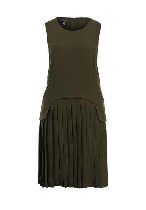 Платье Apart AP002EWKW246. Цвет: хаки