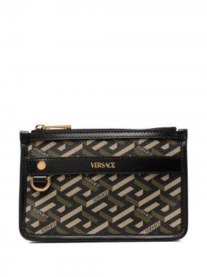 Кошелек с логотипом Versace. Цвет: зеленый