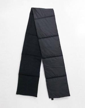 Черный шарф на флисовой подкладке из переработанных материалов Flea Weekday