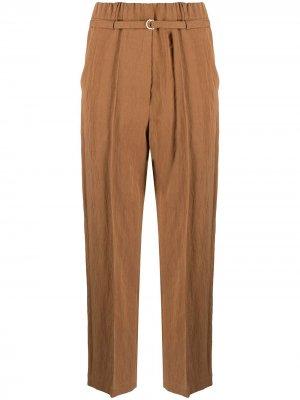 Укороченные брюки с поясом Alysi. Цвет: коричневый