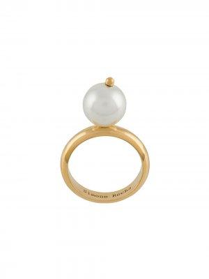 Кольцо с искусственным жемчугом Simone Rocha. Цвет: золотистый