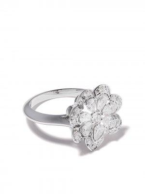 Кольцо из белого золота с бриллиантами Chopard. Цвет: серебристый