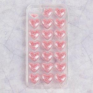 Чехол luazon сердечки для iphone 5/5s, силиконовый, прозрачный Home