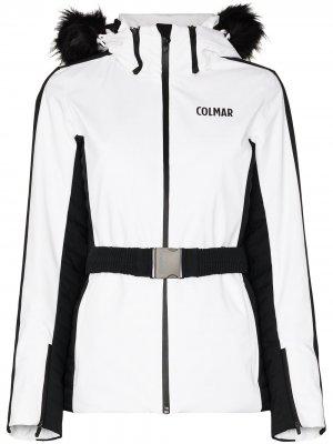 Двухцветная куртка с капюшоном Colmar. Цвет: белый